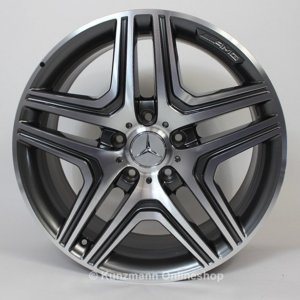 G 63 / 65 AMG 20 inch light-alloy wheels 5-spoke design Original Mercedes-Benz G-Class