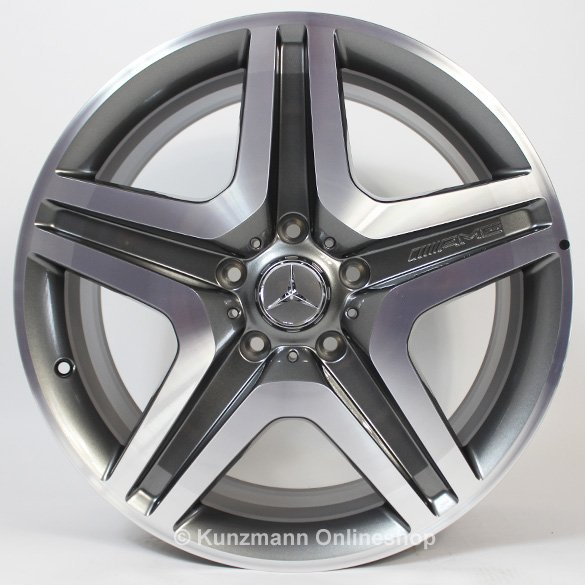 Genuine G 63 / G65 AMG 20-inch alloy wheel set G-Class W463 5-spoke titanium gray