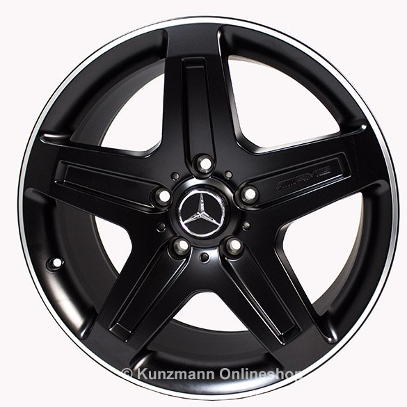 AMG 19 inch rim set G-Wagon W463 5-spoke-wheel Genuine Mercedes-Benz black
