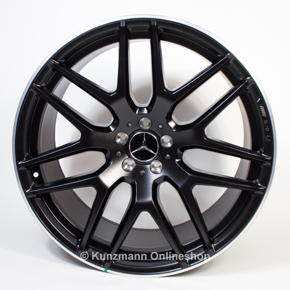 Amg 21 Inch Wheels Set Cross Spoke Gls Class X166 Black