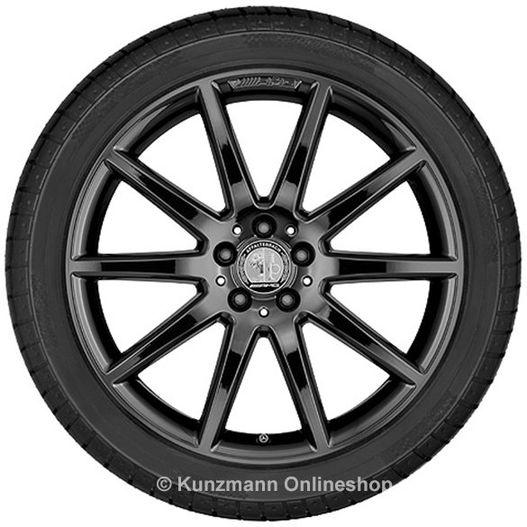 AMG 20 inch rim set Mercedes-Benz GLA X156 10-spoke-wheel titanium black