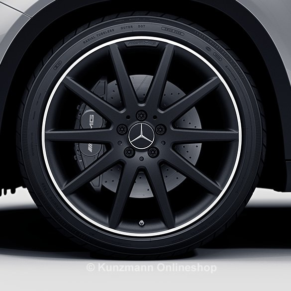 AMG 20 inch rim set Mercedes-Benz GLA X156 10-spoke-wheel high sheen matt black