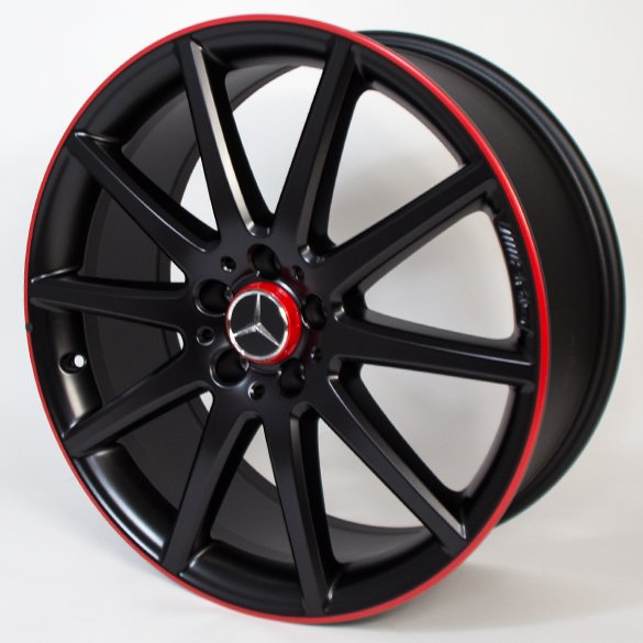 AMG 20 inch rim set Mercedes-Benz GLA X156 10-spoke-wheel black with red flange