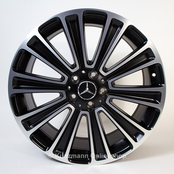 20 inch wheel set 10-spoke matt black GLE W166 Original Mercedes-Benz