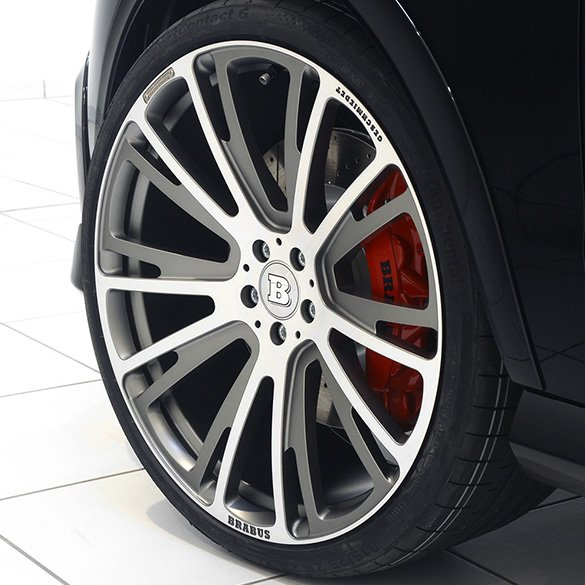 Brabus 20 inch light-aluminium-rims set Monoblock R GLE SUV W166 5-double-spoke-design