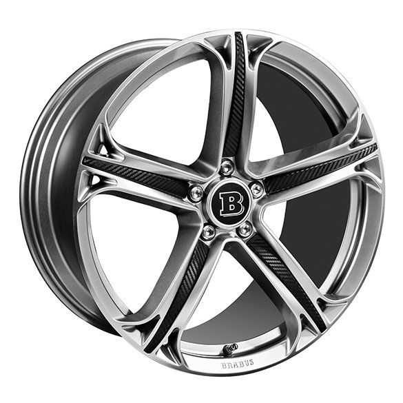 Brabus 20 inch light-aluminium-rims set Monoblock T GLE SUV W166 5-double-spoke-design