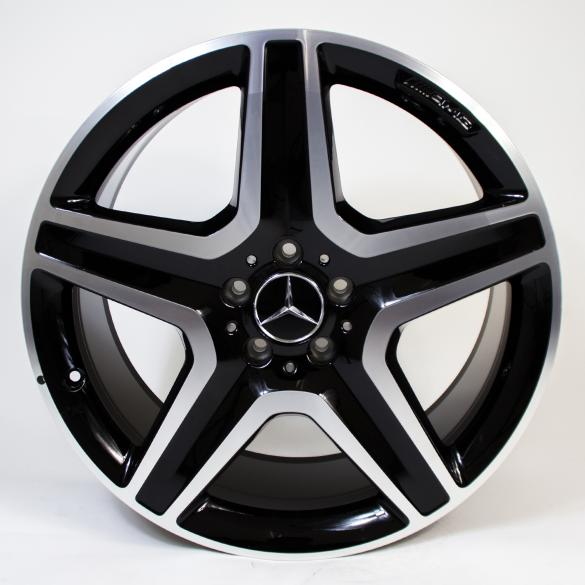 AMG 20-inch rim set M-Class / GLE W166 5-spokes black genuine Mercedes-Benz