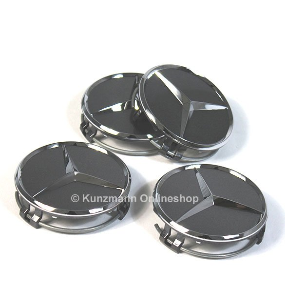 wheel hub cap set titanium grey / himalaya grey Genuine Mercedes-Benz