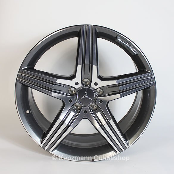 AMG 5-spoke rim set 20 inch S-Class W222 Genuine Mercedes-Benz titanium grey