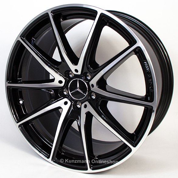amg 20 inch alloy wheel set s class w222 5 twin spoke. Black Bedroom Furniture Sets. Home Design Ideas