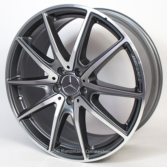 20 inch AMG wheel set 5-doube-spokes grey S-Class W222 original Mercedes-Benz