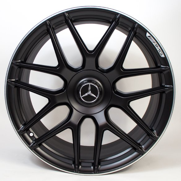AMG 20 inch forged rimset S-Class W222 cross-spoke black original Mercedes-Benz