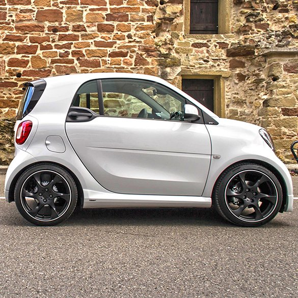 17 inch Speedy complete wheel set black smart fortwo 453 genuine Lorinser