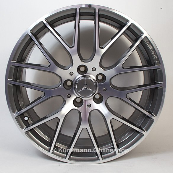 AMG 19 inch rim set A-Class W176 cross spoke titanium grey Genuine Mercedes-Benz