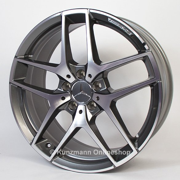 AMG 5-twin-spoke rim set 19 inch GLA X156 Genuine Mercedes-Benz
