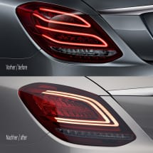 dark Facelift LED rear lights C-Class W205 sedan genuine Mercedes-Benz