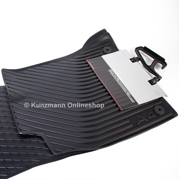 original Audi car rubber front mats set Audi A4 8K B8