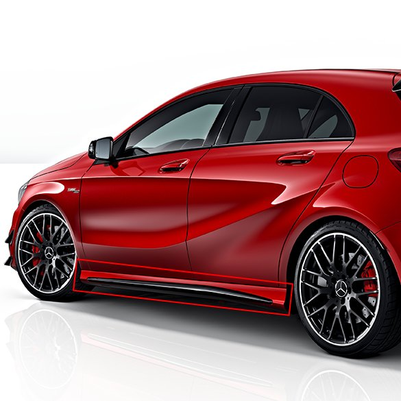 A 45 AMG side skirts night package A-Class W176 Genuine Mercedes-Benz
