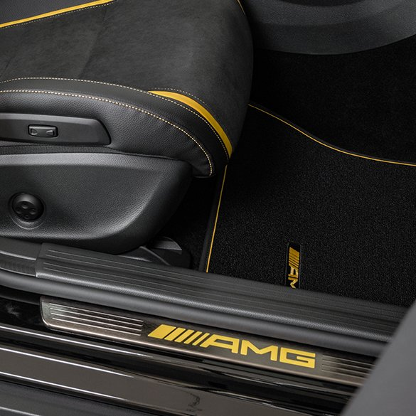 AMG Door Entry Sill Panels Lighted Yellow Night Edition A