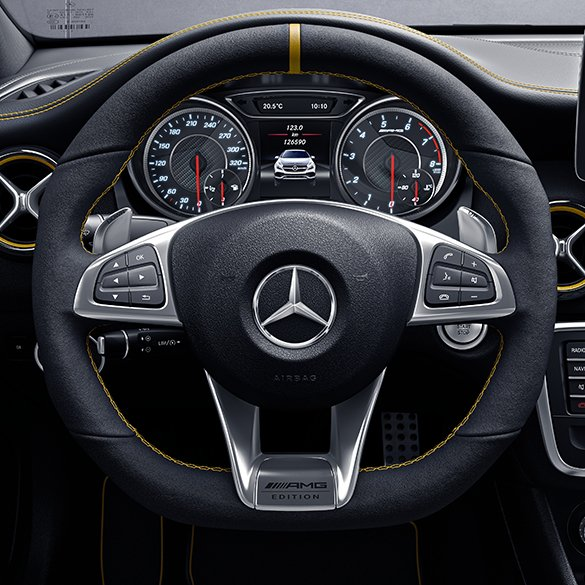 AMG Performance Steering Wheel Yellow Night Edition A