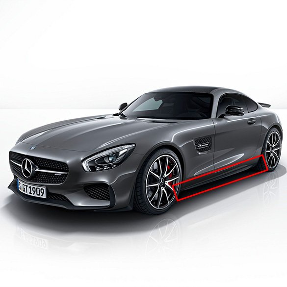 Side skirts aerodynamics package AMG GT C190 edition 1 genuine Mercedes-Benz