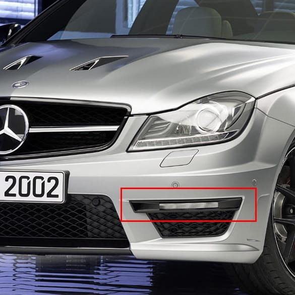 LED day time running light covers black C63 AMG Edition 507 C-Class W204 genuine Mercedes-Benz