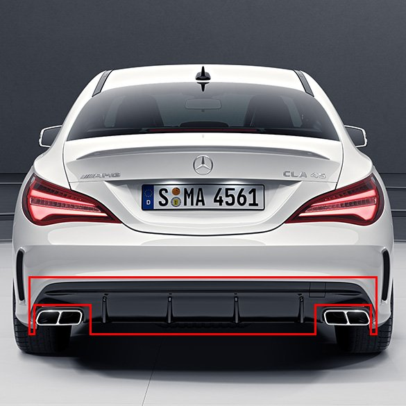 CLA 45 AMG rear Diffusor C117 / X117 facelift genuine Mercedes-Benz