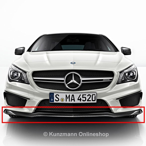 CLA 45 AMG spoiler lip carbon-package Genuine Mercedes-Benz