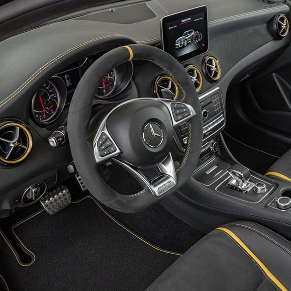 Amg Performance Steering Wheel Yellow Night Edition Cla C X117 Original Mercedes Benz