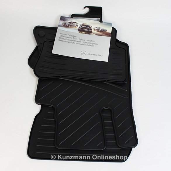Car rubber floor mats Mercedes CLS W218 original Mercedes-Benz in black