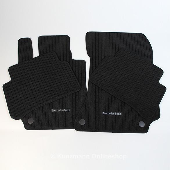 Car rib floor mats mercedes e class w212 original for Mercedes benz floor mats e350