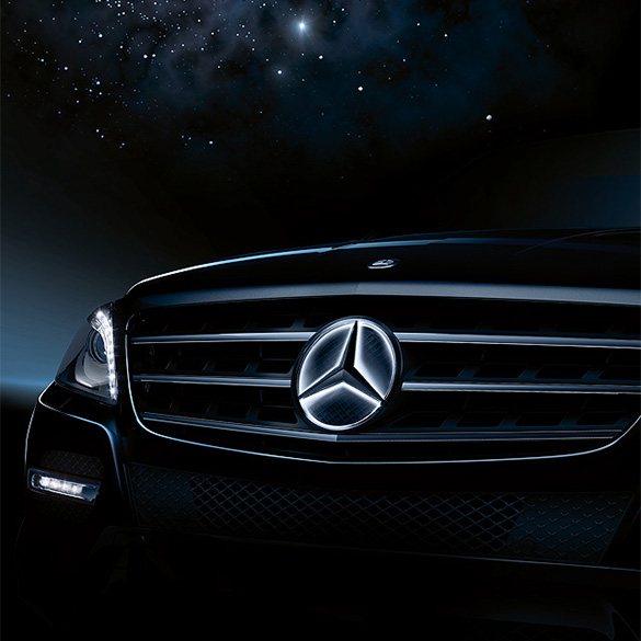 Mercedes star lights LED Technology E-Class W212 CLS W218 original Mercedes-Benz