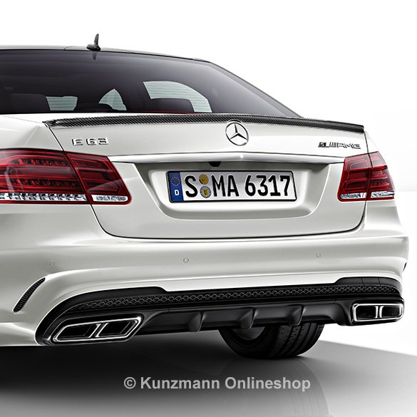 E 63 AMG Night package diffuser & chrome exhaust tips E-Class W212 genuine Mercedes-Benz