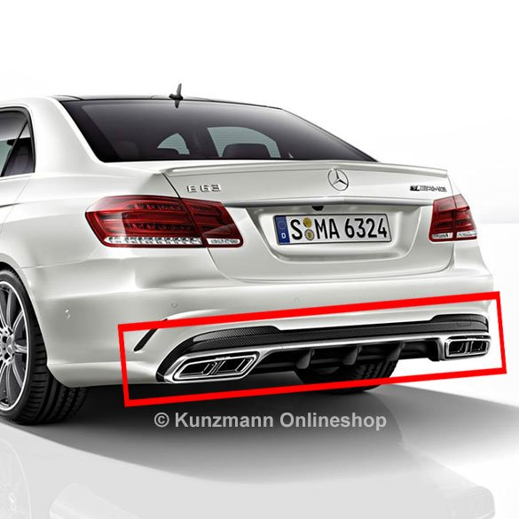 E 63 AMG Diffusor exhaust tips W212 upgrade-set genuine Mercedes-Benz facelift