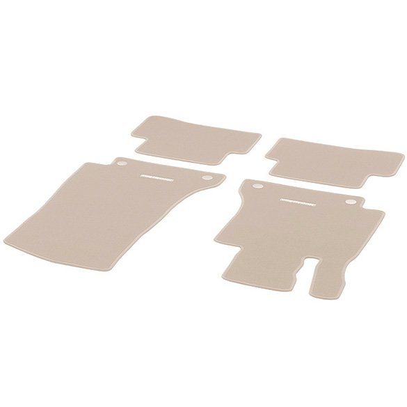 Velour floor mats silk beige E-Class W212 original Mercedes-Benz