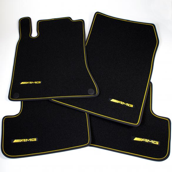 AMG car mats Yellow Night Edition GLA X156 original Mercedes-Benz