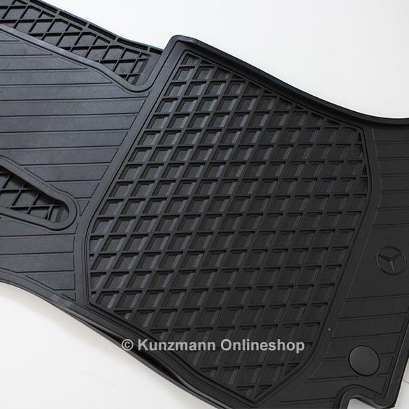 Car rubber floor mats glc x253 original mercedes benz for Mercedes benz mats