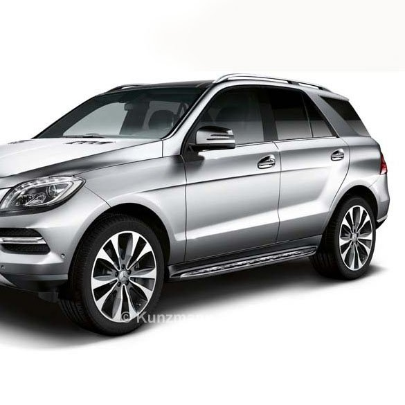 Running boards stainless steel with rubber nubs M-Class GLE SUV W166 Original Mercedes-Benz