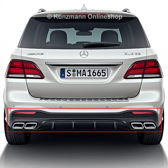63 AMG rear diffusor GLE SUV W166 facelift genuine Mercedes-Benz