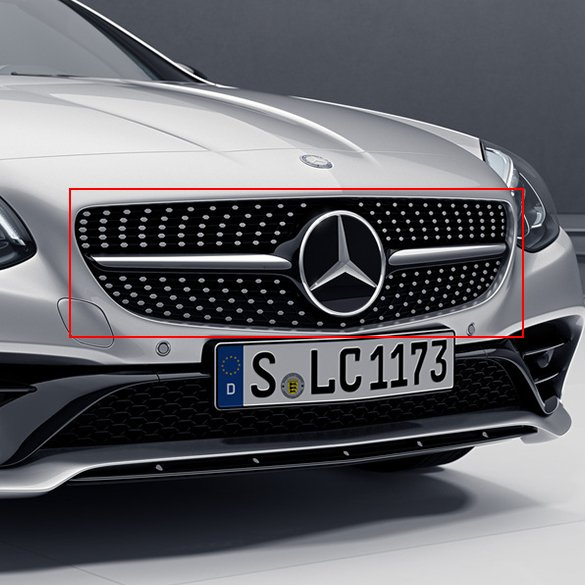 SLC 43 AMG diamond radiator grille SLC R172 original Mercedes-Benz