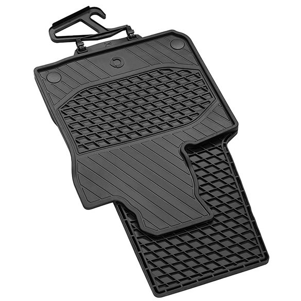 Rubber floor mats 2-pc - smart forfour W453 Genuine smart
