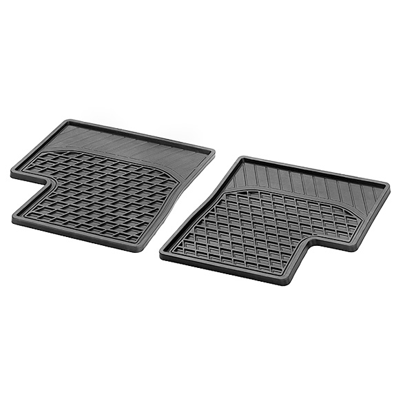 Rubber Floor Mats 2-pc rear - smart forfour W453 Genuine smart
