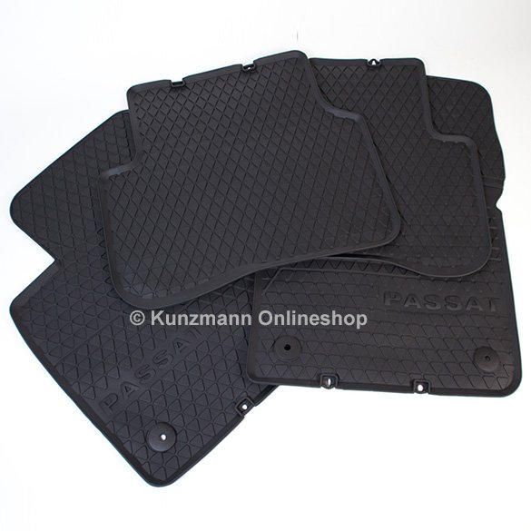 original Volkswagen car rubber mats set VW Passat