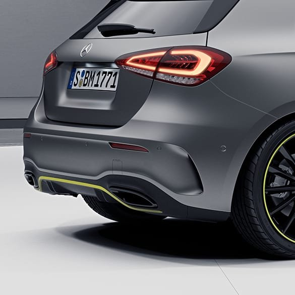Black Exhaust Tips Edition One A-Class W177 Genuine