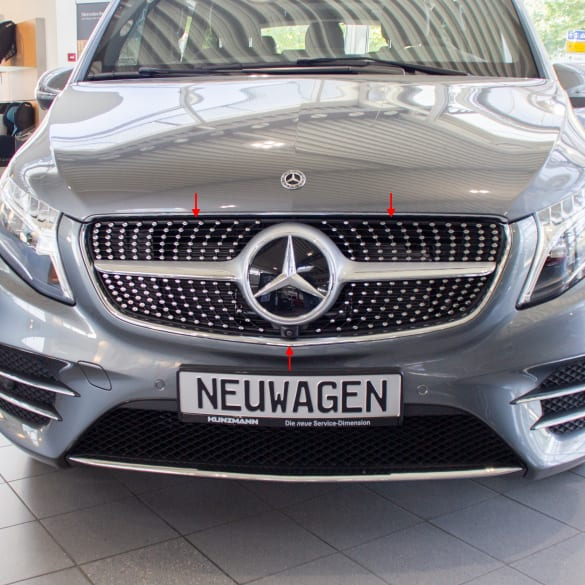 AMG Diamantkühlergrill Facelift V-Klasse W447 Original Mercedes-Benz