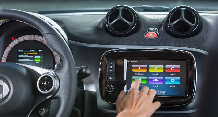 smart fortwo cabrio; Touchdisplay