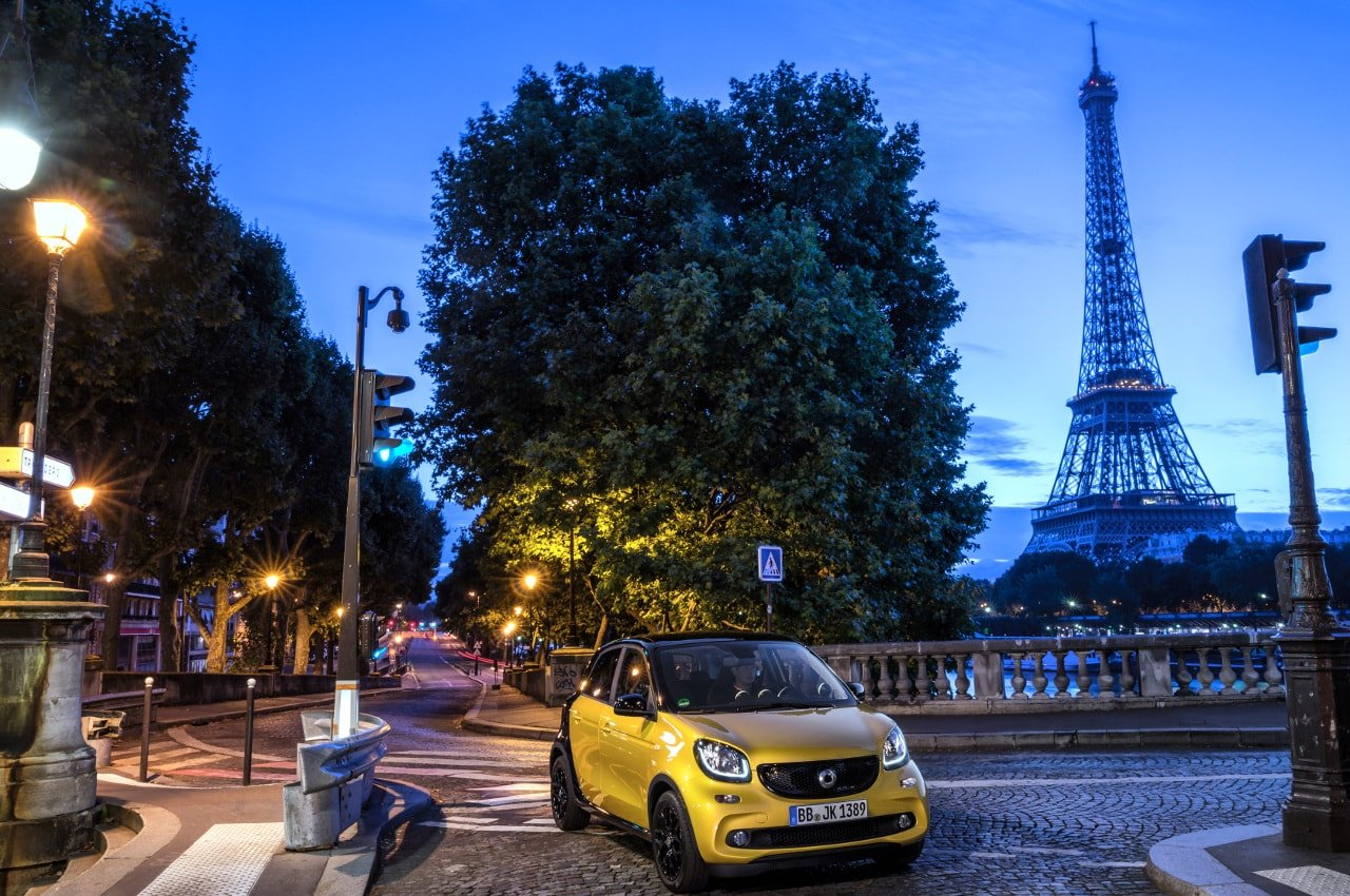 smart forfour; Exterieur: black-to-yellow, black