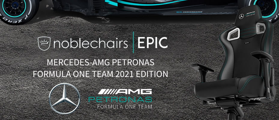 Noblechairs EPIC Mercedes-AMG Petronas Formula one Team 2021 Edition gaming chair